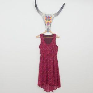FREE SPIRIT - Massimo pink/purple pattern dress